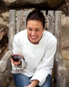 Chef Marcy Ragan laughing